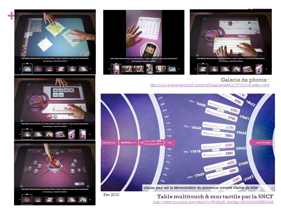 Table multitouch & mur tactile par la SNCF