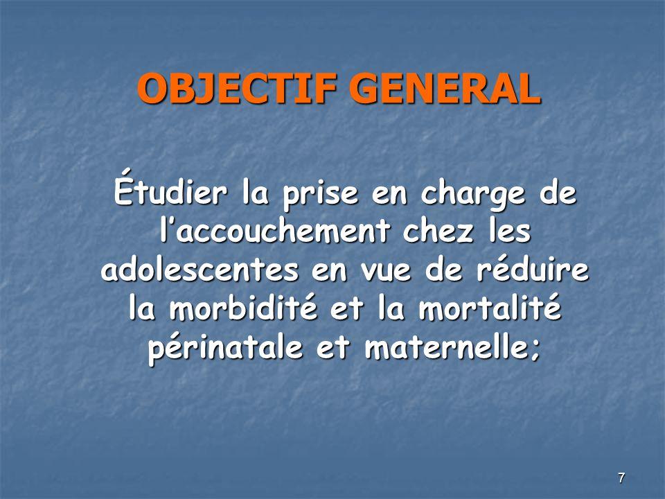 OBJECTIF GENERAL