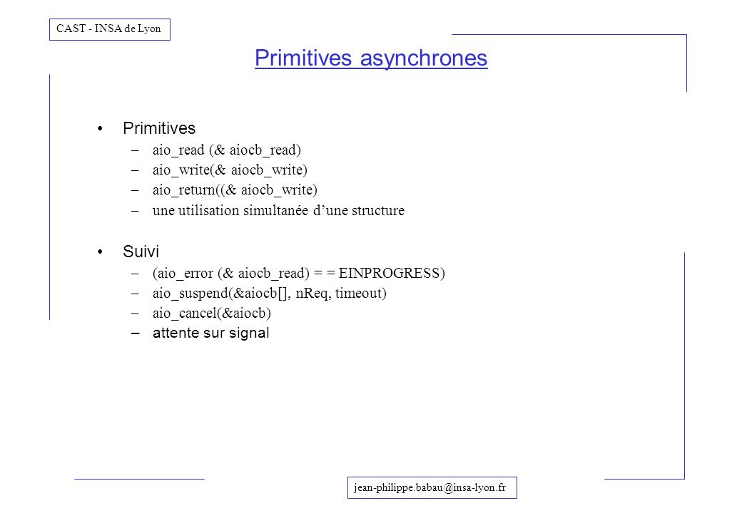 Primitives asynchrones