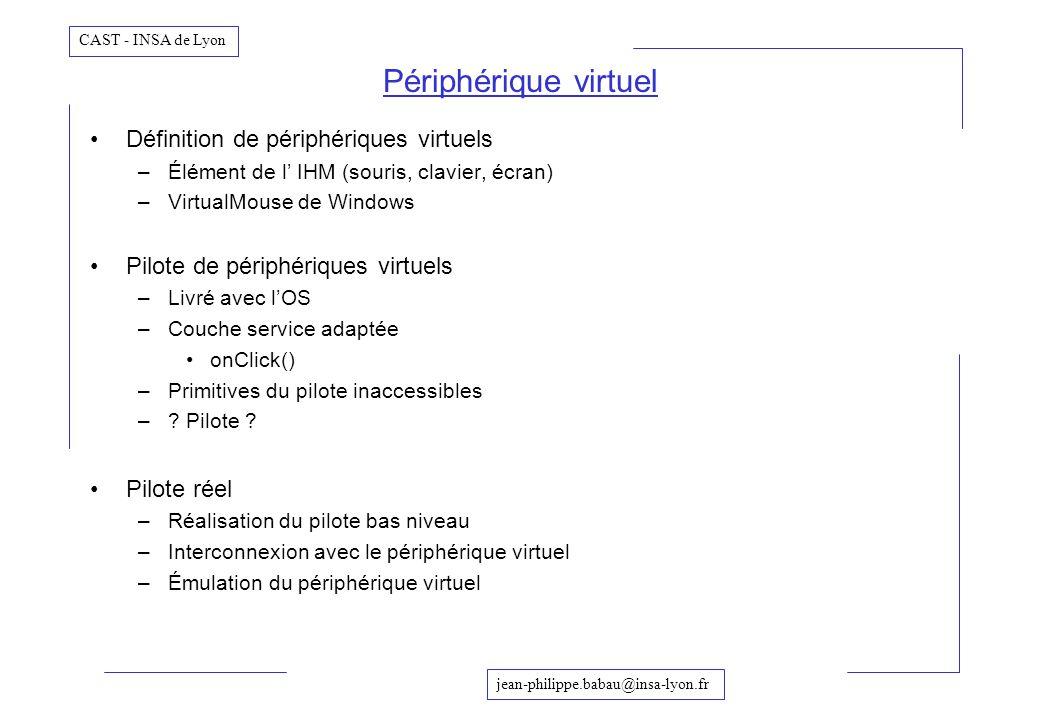 Périphérique virtuel Définition de périphériques virtuels