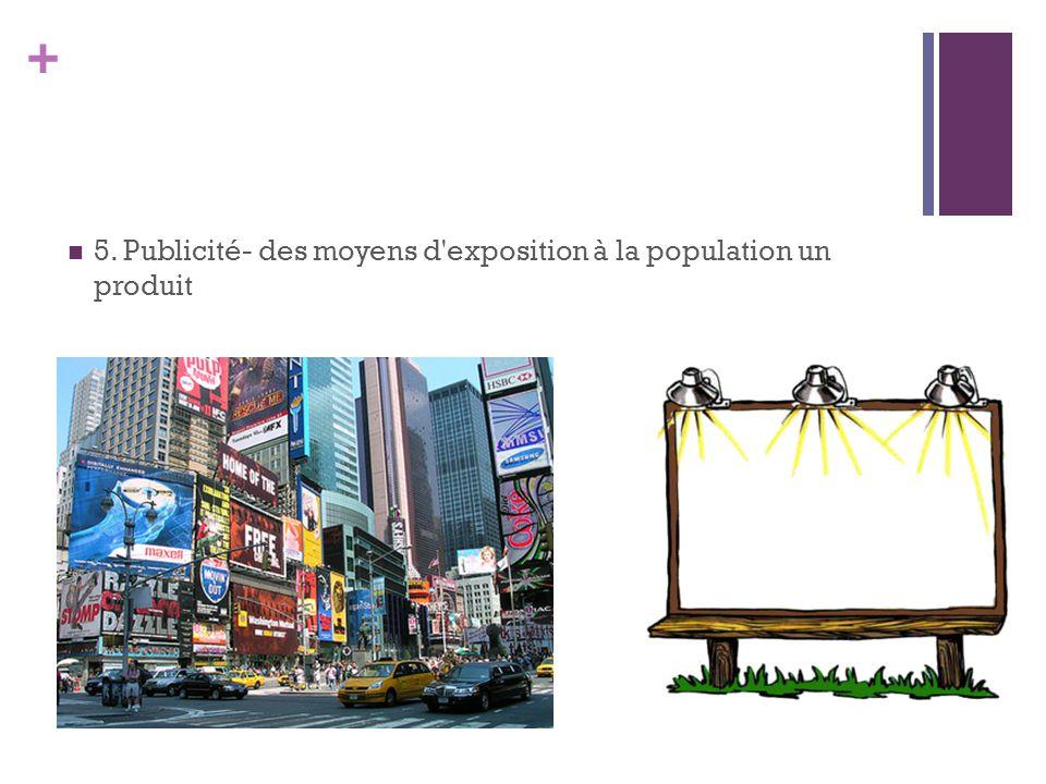 5. Publicité- des moyens d exposition à la population un produit