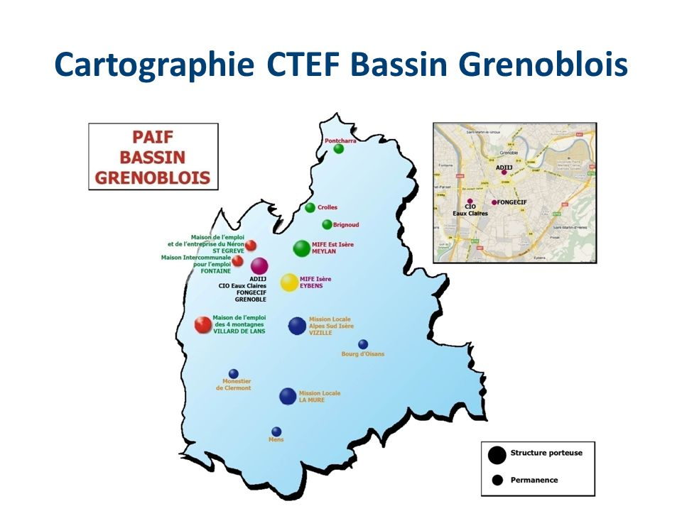 Cartographie CTEF Bassin Grenoblois