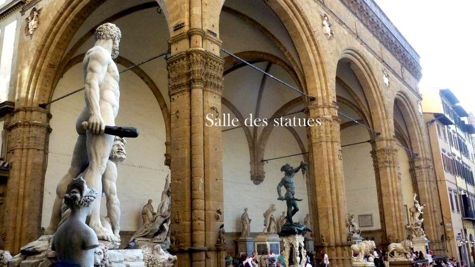 Salle des statues Cosme 1er La Loggia des Lanzi
