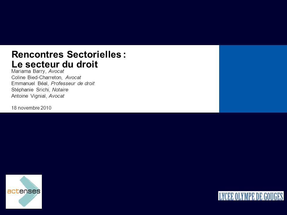 Rencontres Sectorielles : Le secteur du droit