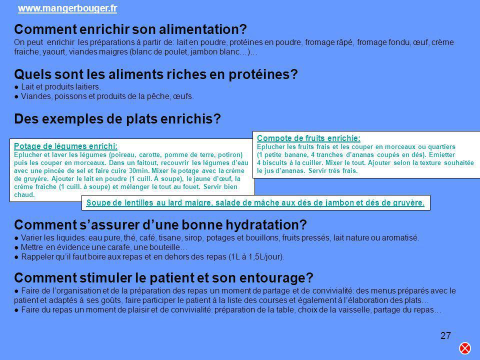 Comment enrichir son alimentation