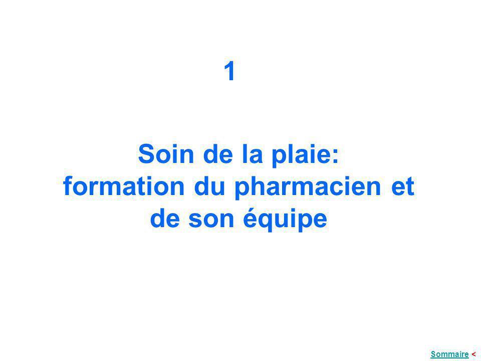 Soin de la plaie: formation du pharmacien et de son équipe