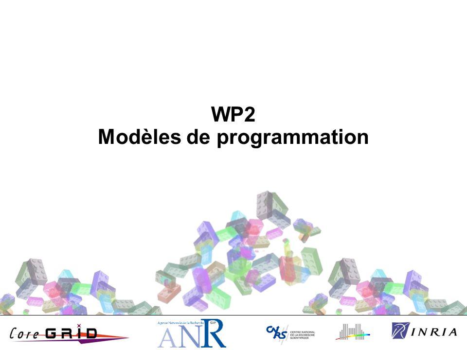 WP2 Modèles de programmation