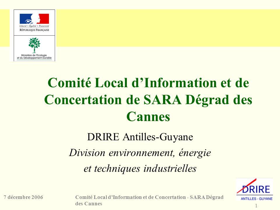 Comité Local d'Information et de Concertation de SARA Dégrad des Cannes