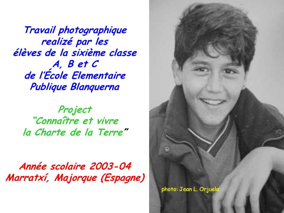 Travail photographique realizé par les élèves de la sixième classe