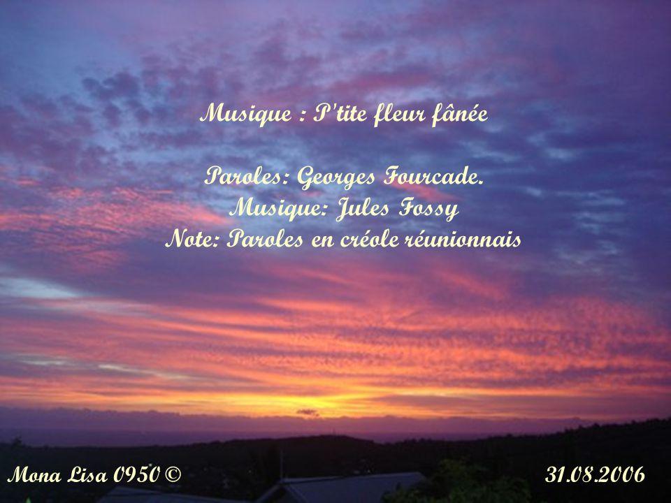 Musique : P tite fleur fânée Paroles: Georges Fourcade.