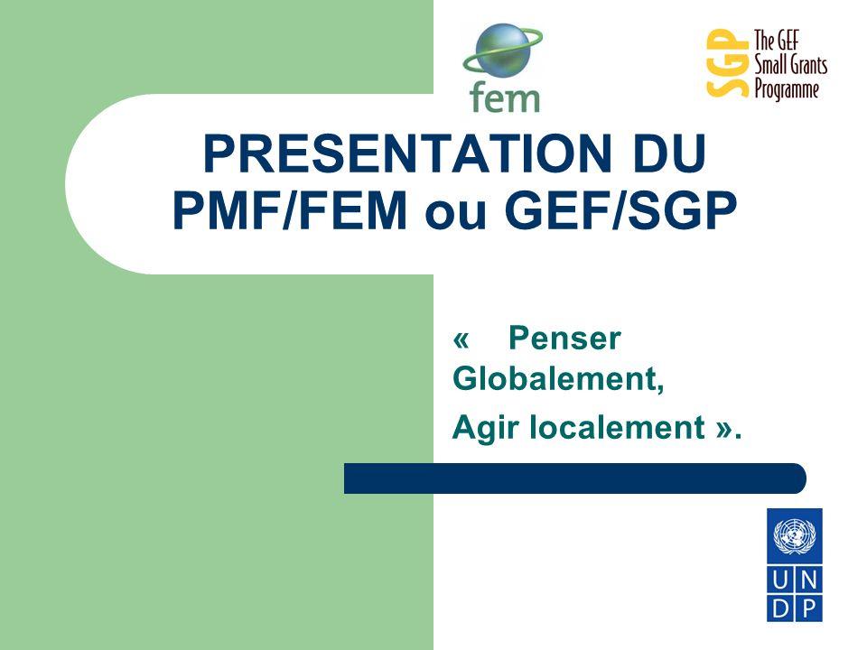 PRESENTATION DU PMF/FEM ou GEF/SGP