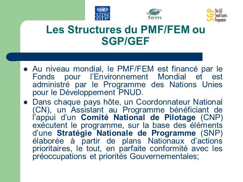 Les Structures du PMF/FEM ou SGP/GEF