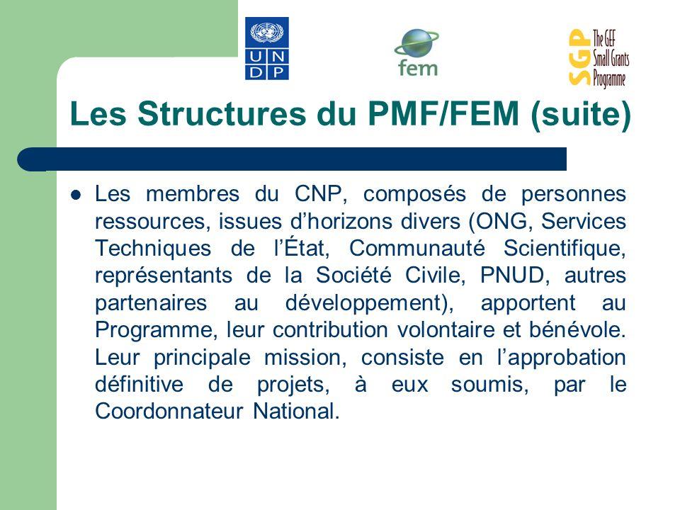 Les Structures du PMF/FEM (suite)