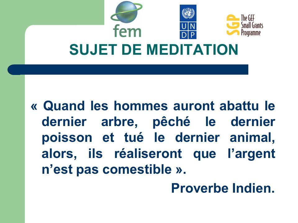SUJET DE MEDITATION
