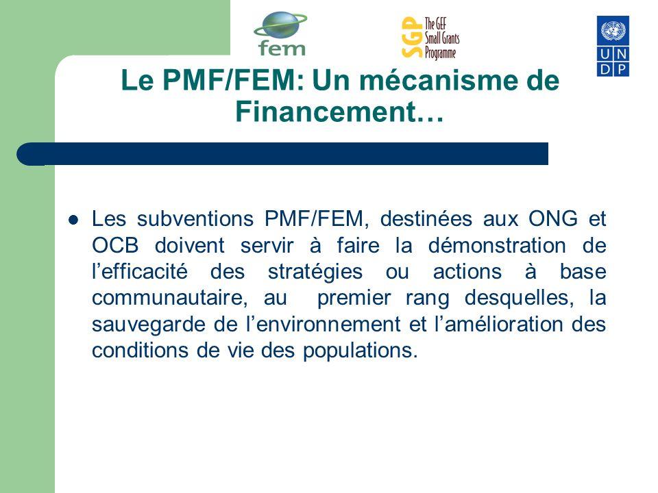 Le PMF/FEM: Un mécanisme de Financement…