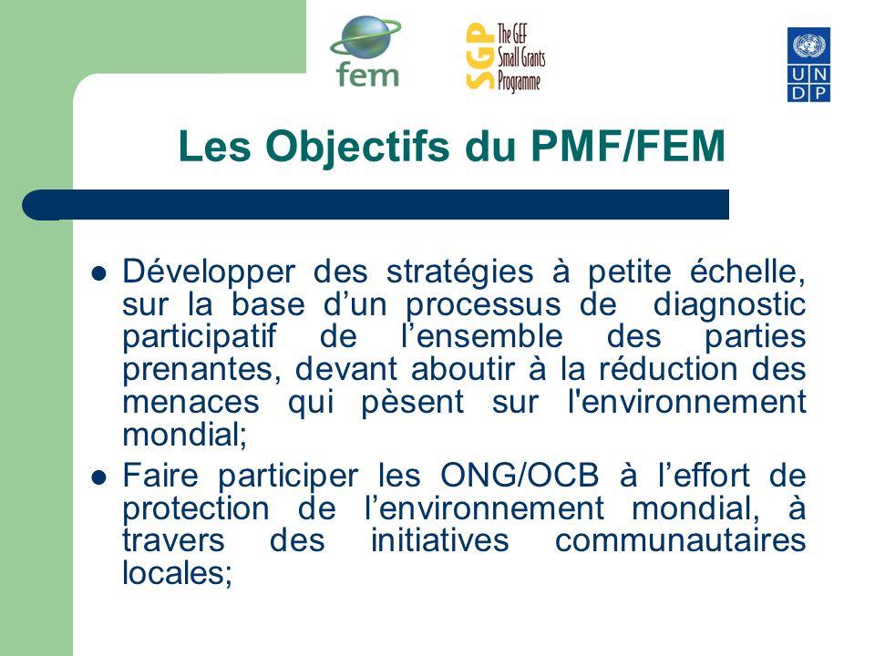 Les Objectifs du PMF/FEM