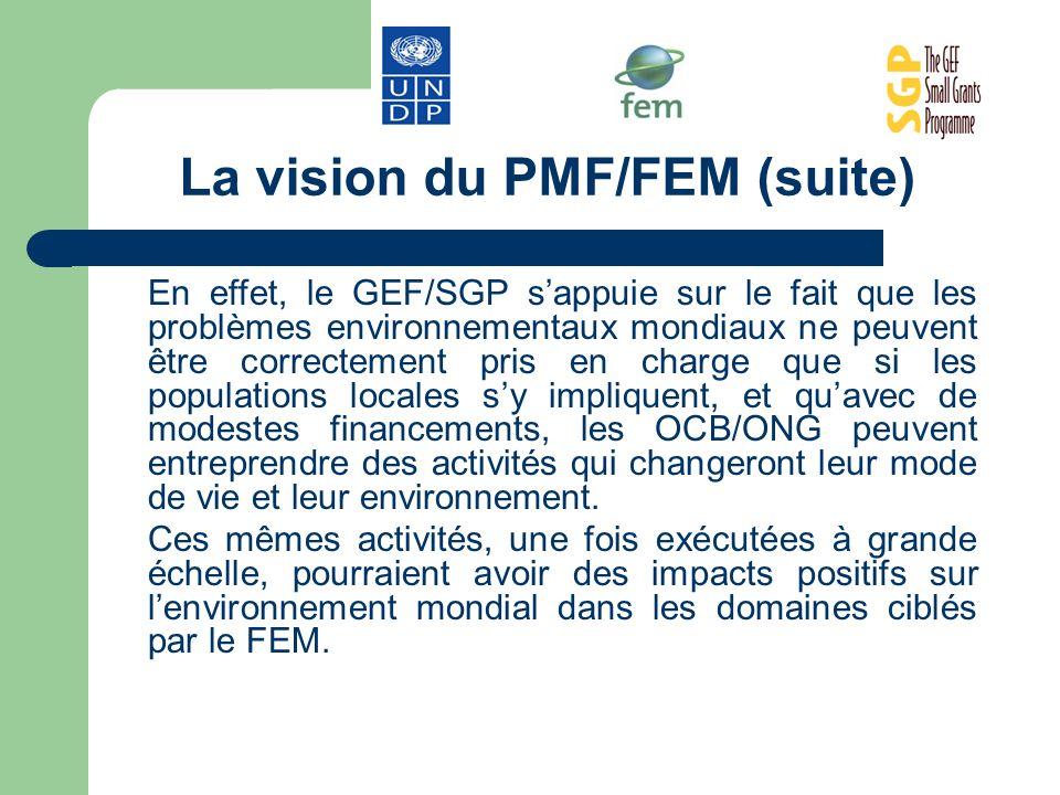 La vision du PMF/FEM (suite)