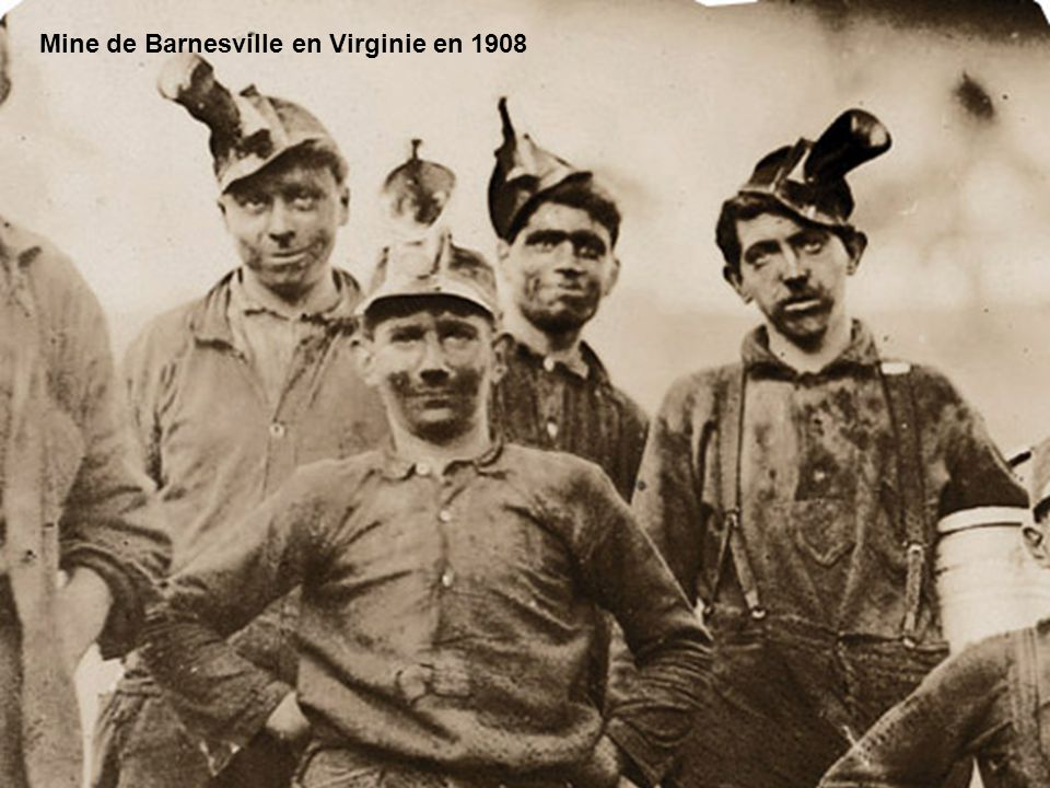 Mine de Barnesville en Virginie en 1908