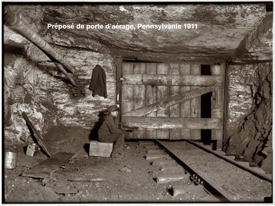 Préposé de porte d'aérage, Pennsylvanie 1911