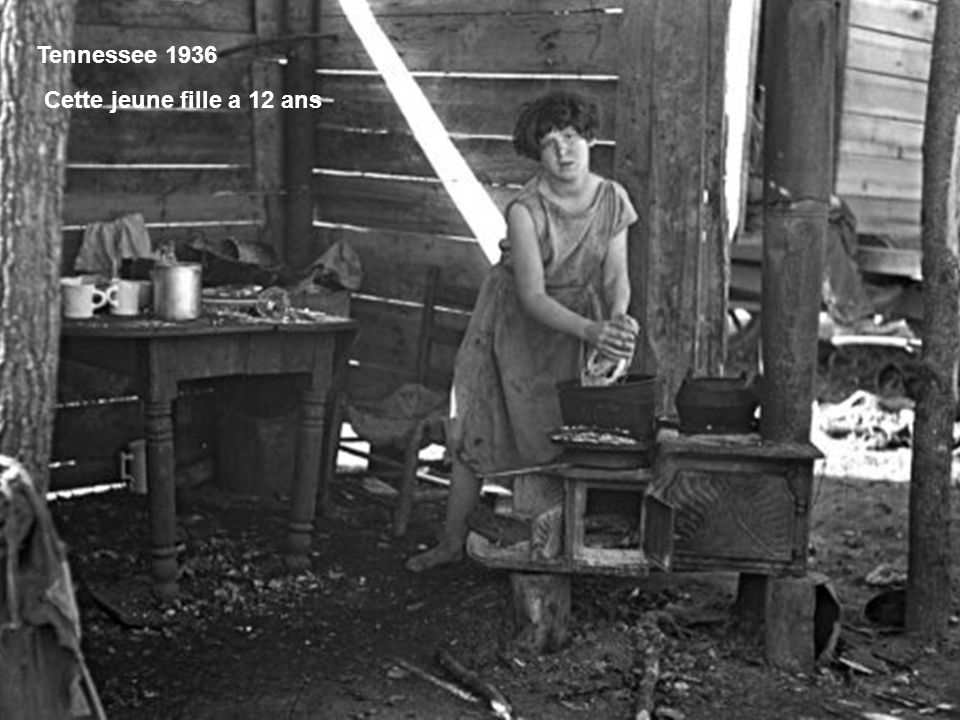 Tennessee 1936 Cette jeune fille a 12 ans