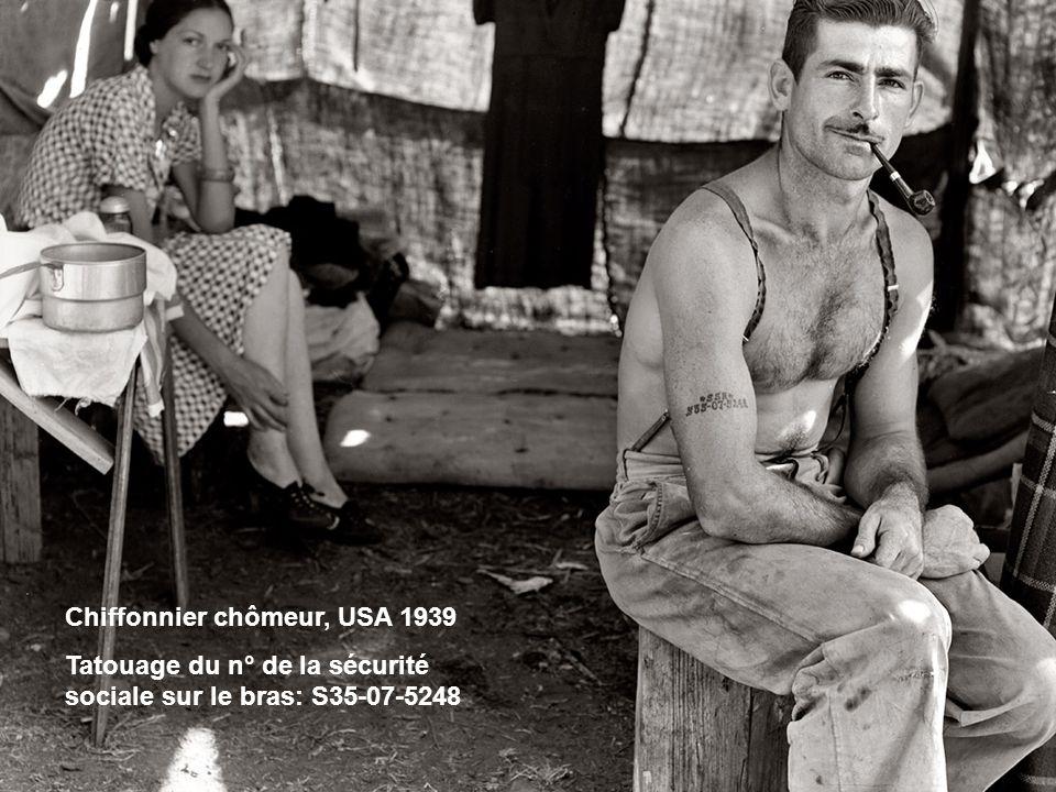 Chiffonnier chômeur, USA 1939