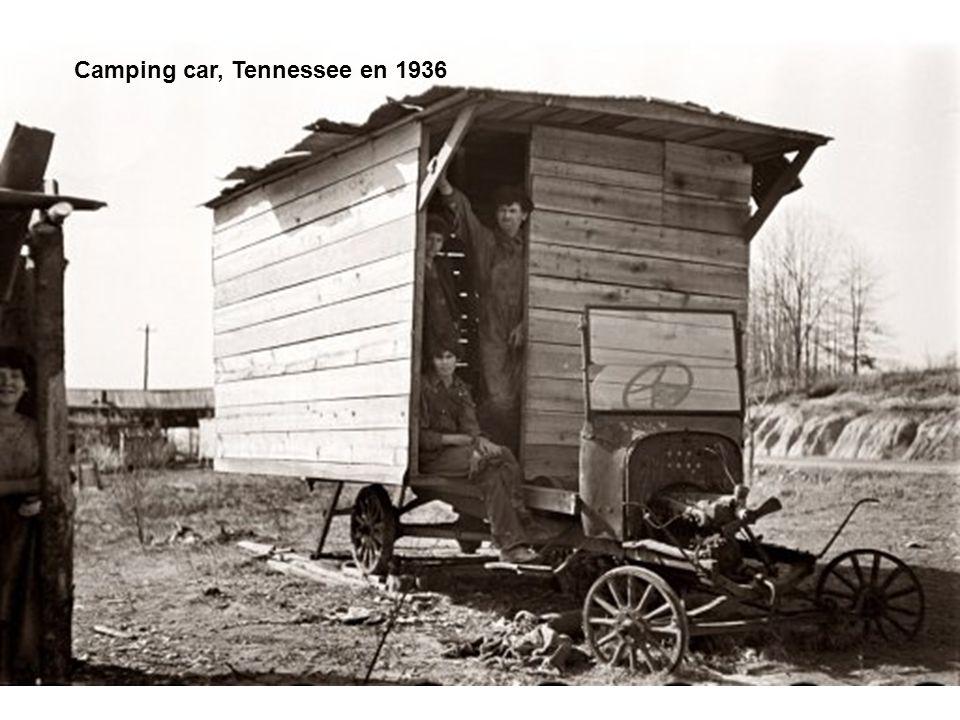Camping car, Tennessee en 1936
