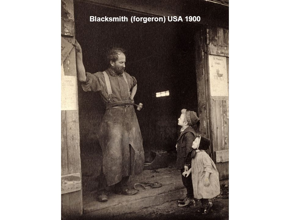 Blacksmith (forgeron) USA 1900
