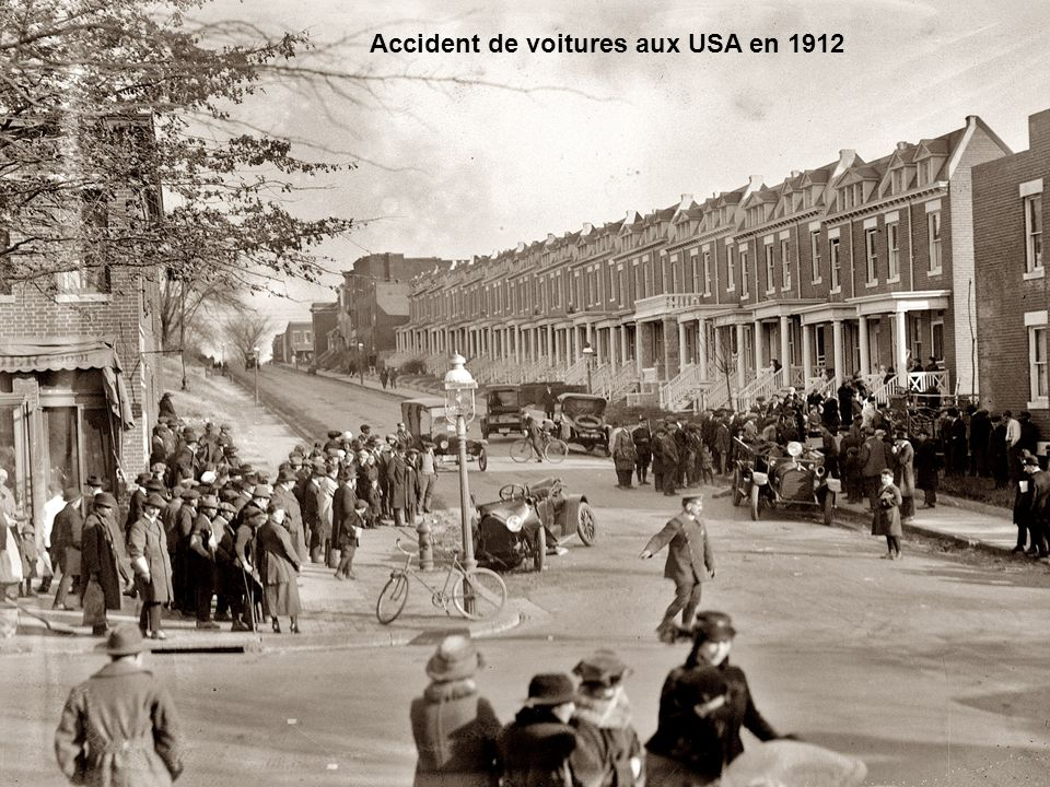 Accident de voitures aux USA en 1912
