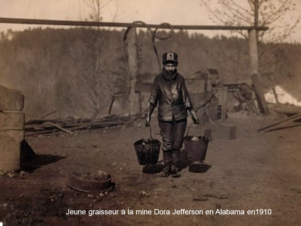 Jeune graisseur à la mine Dora Jefferson en Alabama en1910