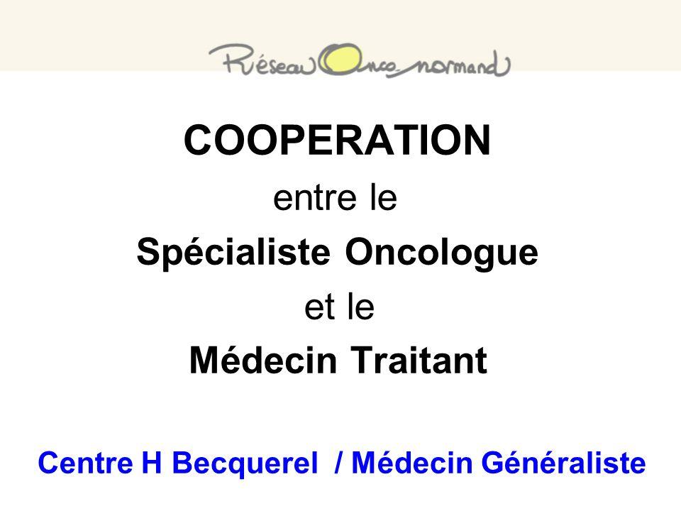 COOPERATION entre le Spécialiste Oncologue et le Médecin Traitant