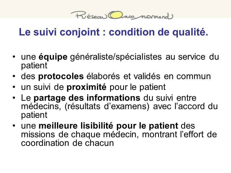 Le suivi conjoint : condition de qualité.