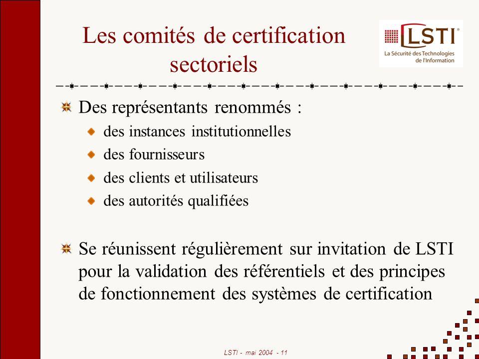Les comités de certification sectoriels