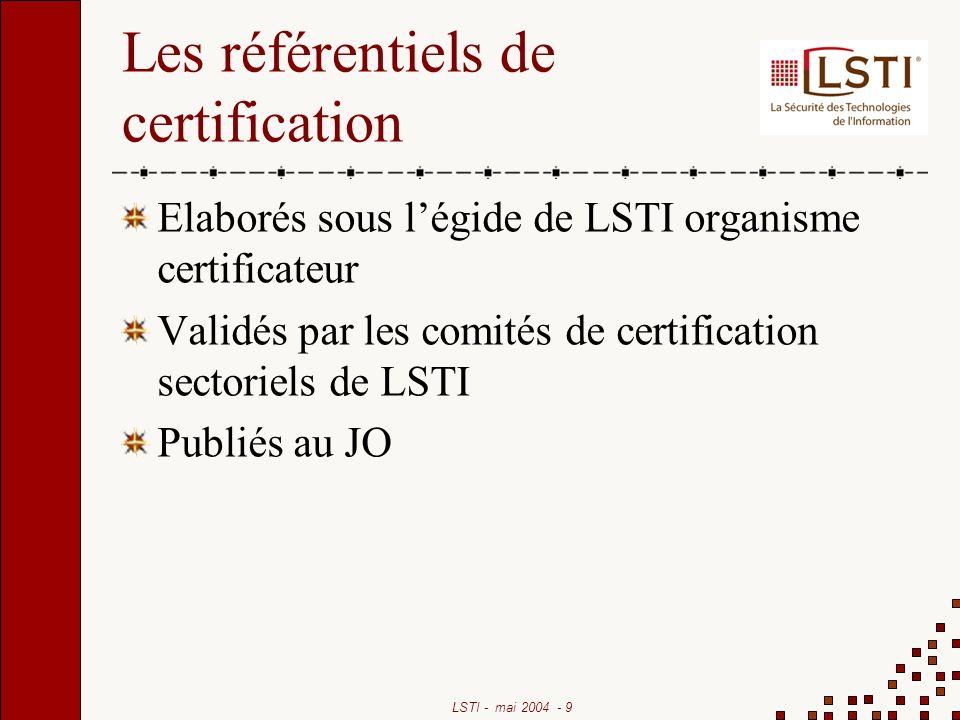 Les référentiels de certification