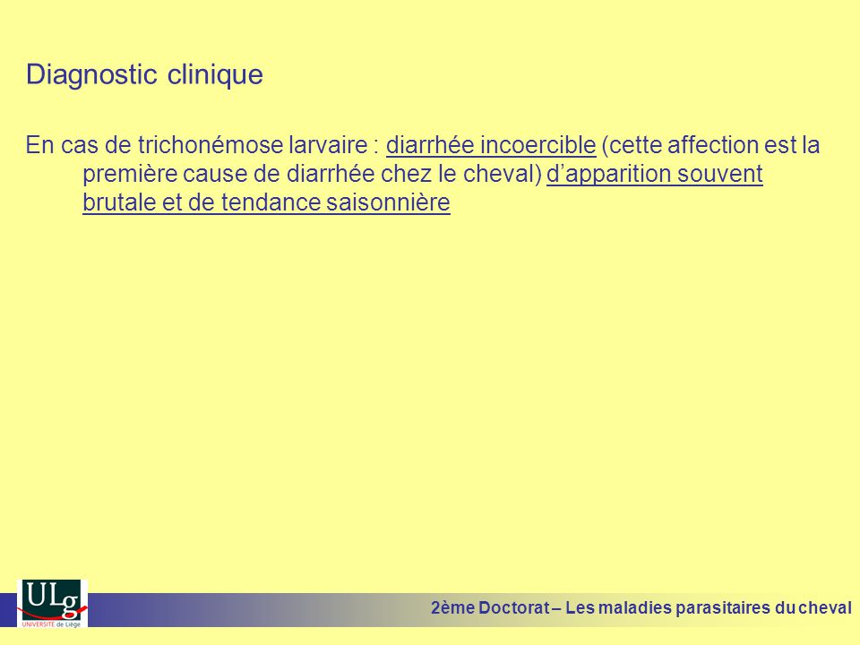 Diagnostic clinique