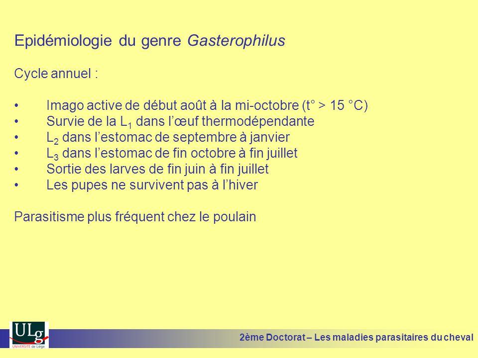Epidémiologie du genre Gasterophilus