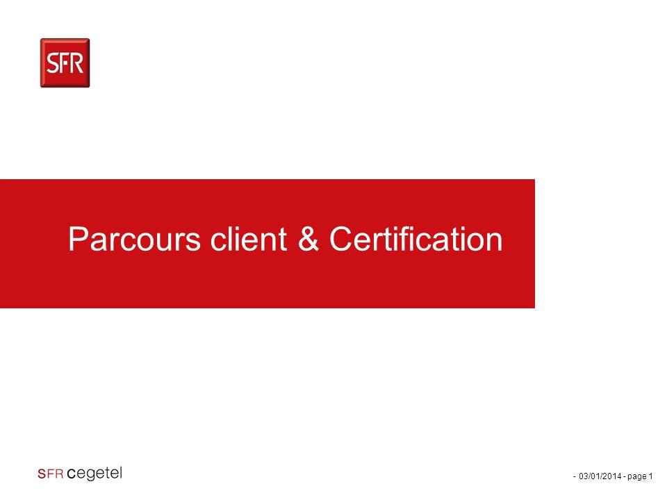 Parcours client & Certification