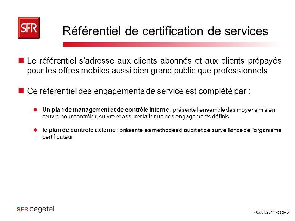 Référentiel de certification de services