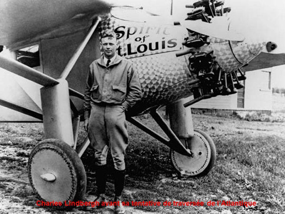 Charles Lindbergh avant sa tentative de traversée de l'Atlantique