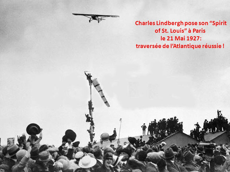 Charles Lindbergh pose son Spirit of St
