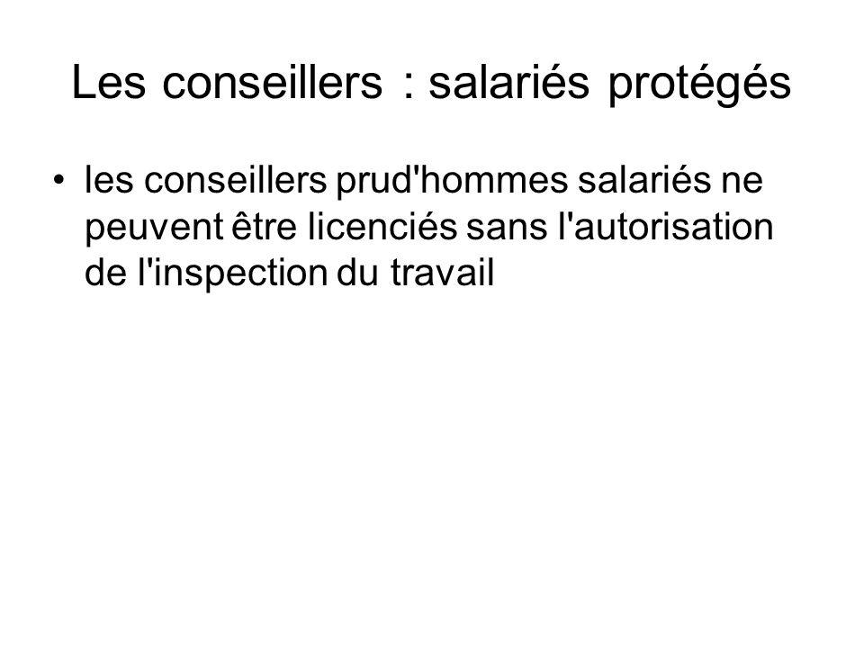 Les conseillers : salariés protégés