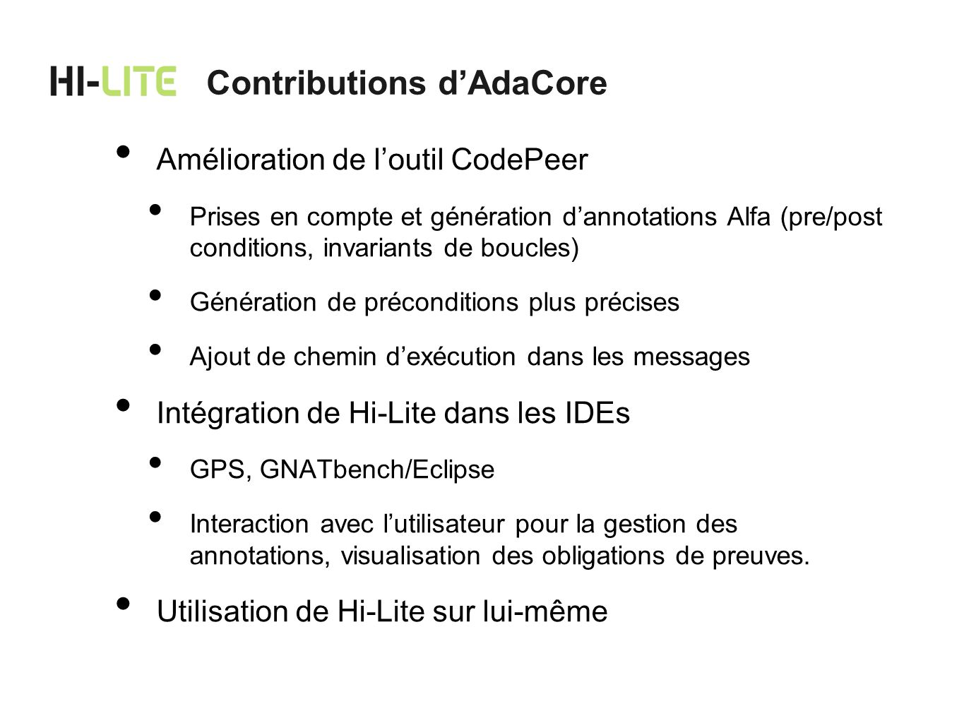 Contributions d'AdaCore