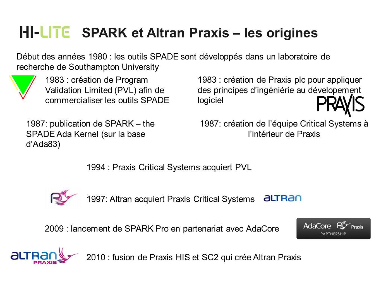 1987: création de l'équipe Critical Systems à l'intérieur de Praxis