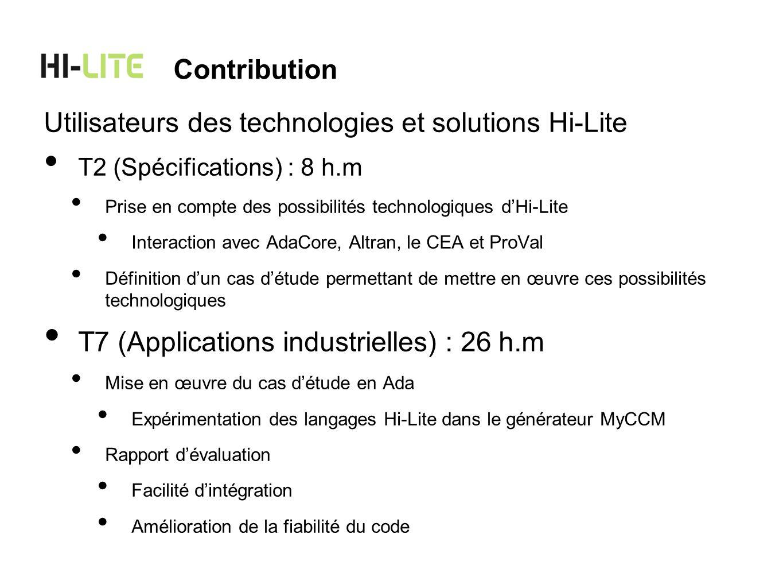 Utilisateurs des technologies et solutions Hi-Lite
