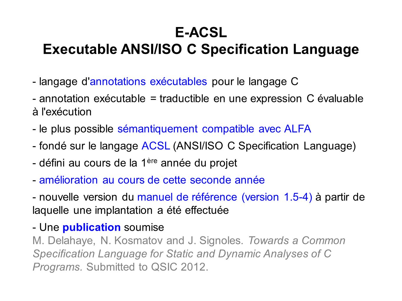 Executable ANSI/ISO C Specification Language