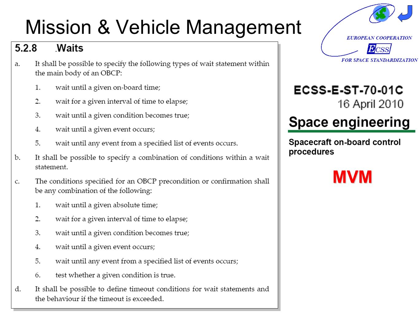 Mission & Vehicle Management