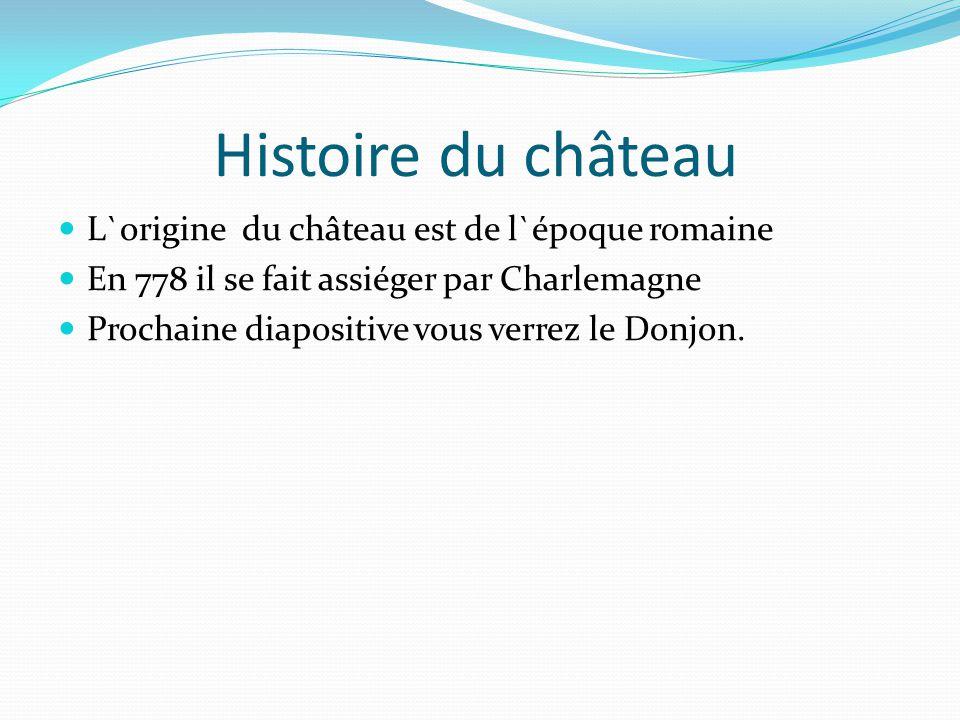 Histoire du château L`origine du château est de l`époque romaine