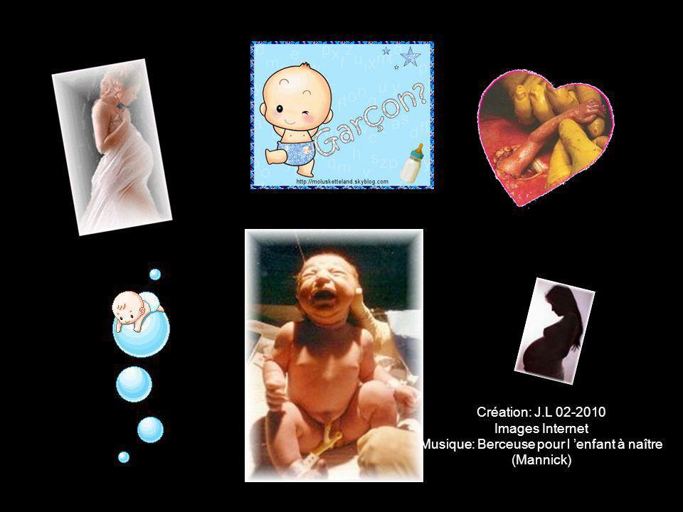 Création: J.L 02-2010 Images Internet Musique: Berceuse pour l 'enfant à naître (Mannick)