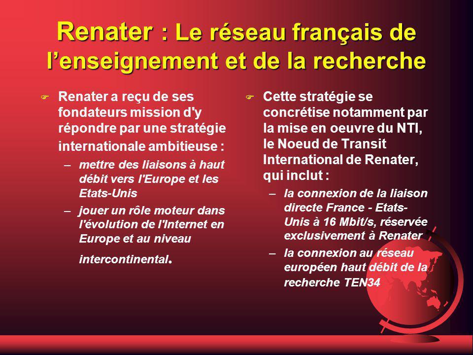 Renater : Le réseau français de l'enseignement et de la recherche