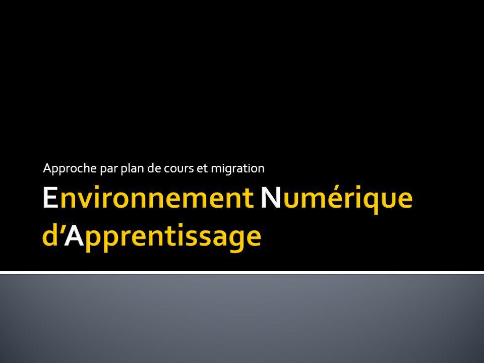 Environnement Numérique d'Apprentissage