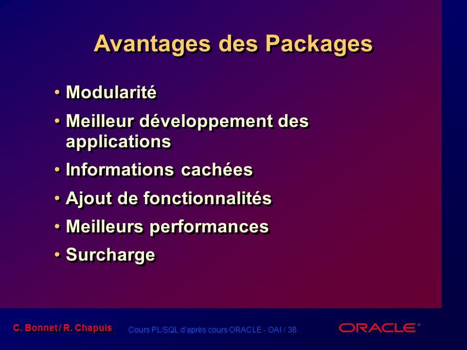 Avantages des Packages